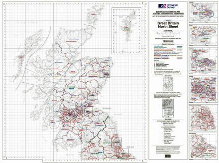 OS Administrative Boundary Map Electoral Boundaries - Sheet 1a - Northern Great Britain